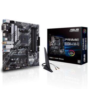 ASUS PRIME B550M-A (WI-FI) AMD B550 AM4 DDR4 4400 WiFi + BT ARGB mATX