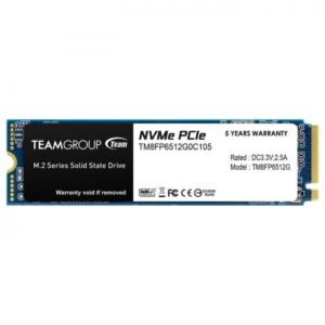 TEAM MP33 512GB 1700Mb-1400Mb M.2 NVME SSD